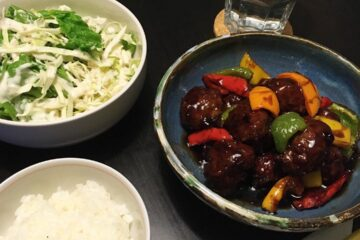 Sweet and Sour Meatballs on Table - Haemi YH