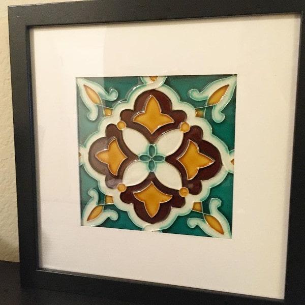 Portuguese Decorative Framed Tile 1