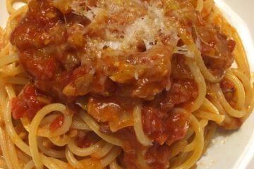 Spaghetti All' Amatriciana Close Up