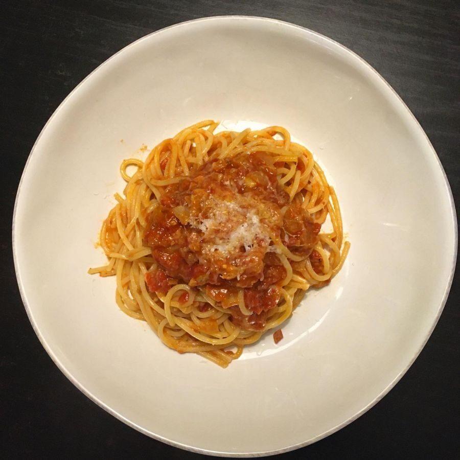 Spaghetti All' Amatriciana Dish