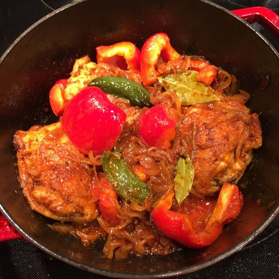 Chicken Pepper Curry Cooking