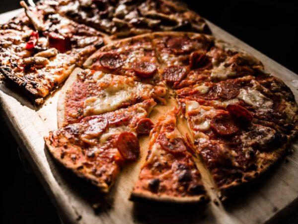 healthy comfort food pizza board